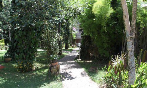 Áreas para caminhar e relaxar
